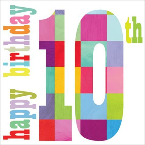 Happy 10th Birthday Birthday Card   Karenza Paperie