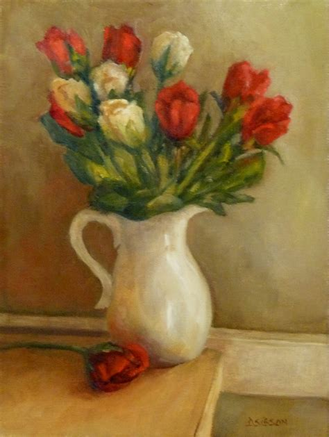 Vase Of Flowers Paintings by Daily Painting Projects Buds In Vase Painting