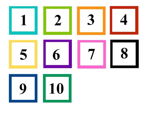 printable pictures of numbers 1 10 numbers 1 10 preschool printables learning printable