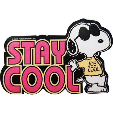 Coole Sticker Shop by Peanuts Stay Cool Sticker