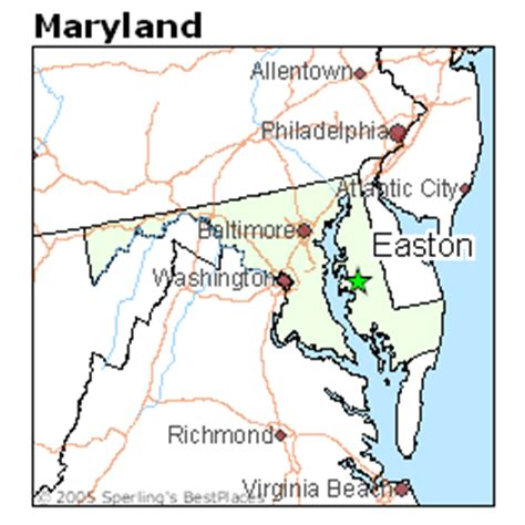 easton maryland map best places to live in easton maryland