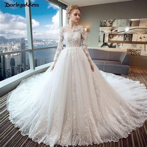 buy luxury long tail lace dubai wedding