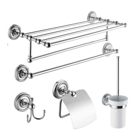 chrome bathroom accessory set 5 chrome finish bathroom accessory set bcs002