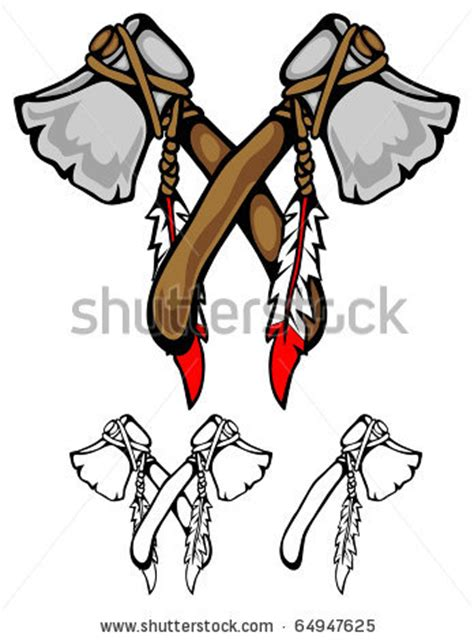 two tomahawks crossed in a clipart panda free clipart