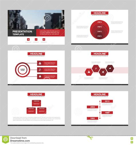 Red Black Abstract Presentation Templates Infographic Elements Template Flat Design Set For Advertising Presentation Templates