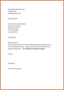 Business Letter Margins Business Letter Format Exle Bio Exle