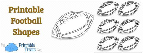 Free Printable Football Shapes Printable Treats Com Football Template Printable