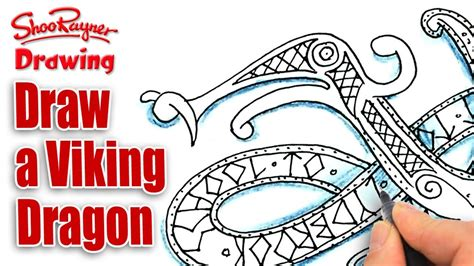 how to draw a easy viking boat how to draw a viking dragon spoken tutorial youtube