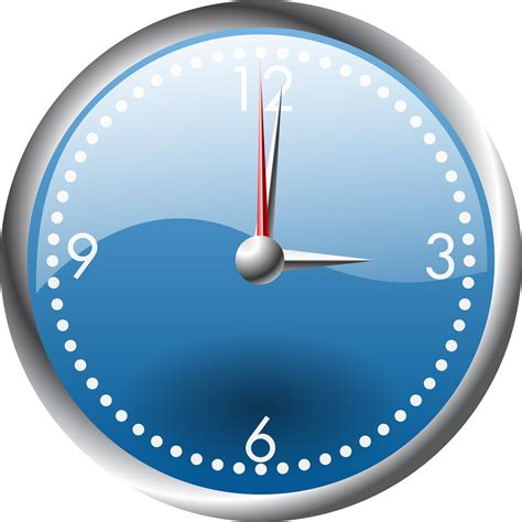 clipart orologio clipart a blue and chrome clock