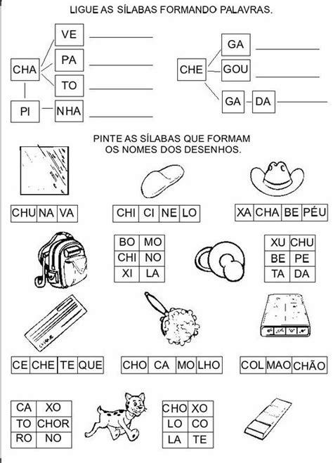 ch e atividades lh ch e nh para alfabetiza 231 227 o atividades