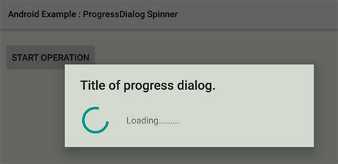 android progress dialog how to create a spinner style progressdialog in android