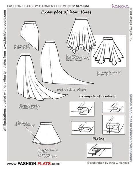 clothes pattern types hemline types google search technical stuff