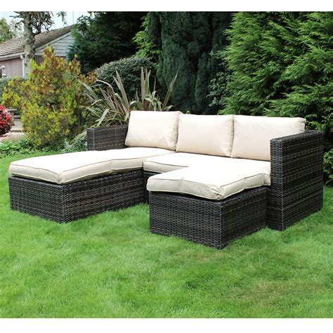 corner sofa outdoor furniture charles bentley garden l shaped rattan corner sofa outdoor