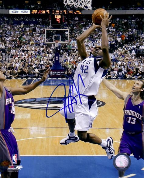 stack house dallas jerry stackhouse autographed dallas mavericks 8x10 photo retired basketball player