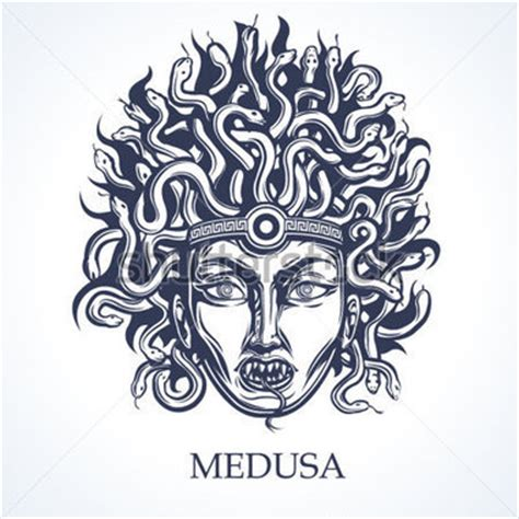 medusa face greek mythology stock vector clipart me