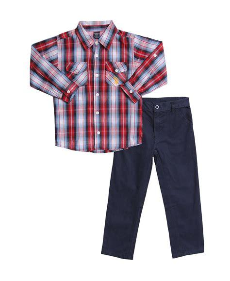 3t boys clothes u s polo assn boys plaid shirt and pant