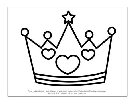 coronas para imprimir 10 dibujos de princesas para imprimir y colorear silhouettes