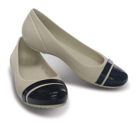 Comfort Flats For Work by New Womens Crocs Cap Toe Flat Casual Soft Comfort Work