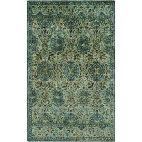 Teal Area Rug 5 X 8 Artistic Weavers Parnua Teal 5 Ft X 8 Ft Indoor Area Rug S00151023421 The Home Depot