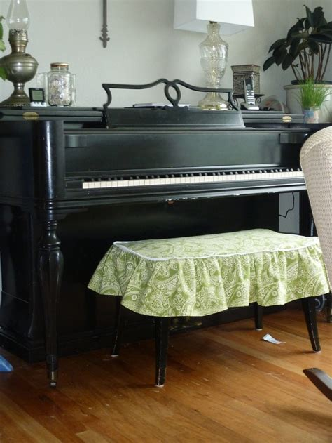 bench slipcover slipcover for our piano bench my projects pinterest