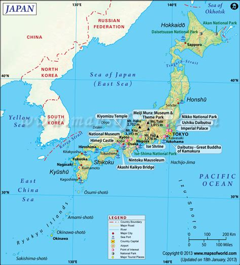 map of japan major cities map of japan shows the its capital cities roads