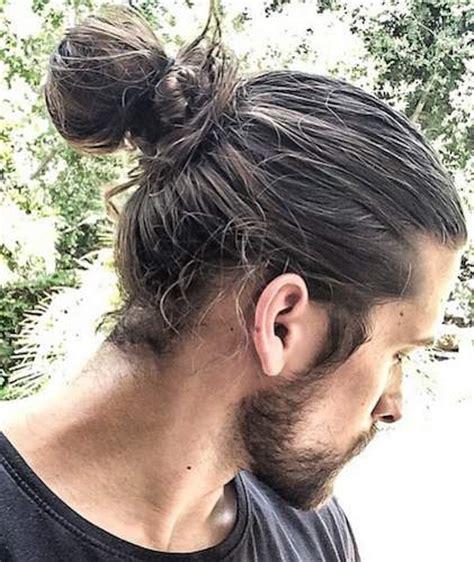 mens tie back hairstyles 7 types of man bun styles for men explained man bun