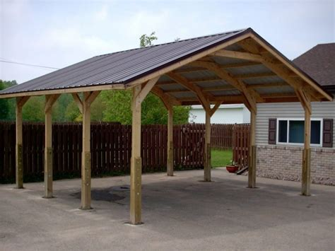 Metal Carport Buildings Prices by 18x36x12 Carport Wood Kits Home Depot Prices Installed