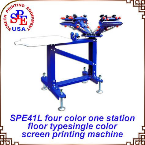 4 color screen printing press 4 color 1 station screen printing machine press equipment