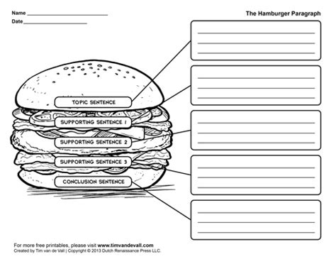 george washington coloring page tim van de vall hamburger graphic organizers hamburger paragraph template