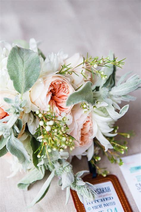 Wedding Bouquet Mint Green by Ettington Park Wedding Flowers Coral Mint Green