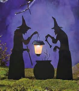 Witches For Halloween Decorations Halloween Decor Solar Lantern Witch Ghost Tombstone