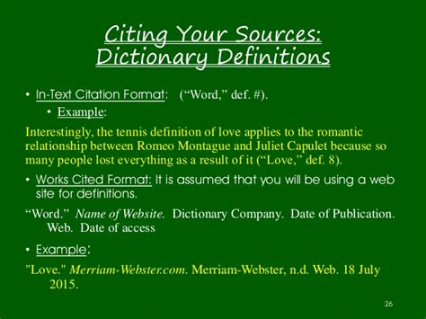 Quoting Definitions In Essay by Ms Forrester S Guide To Research Papers 2015