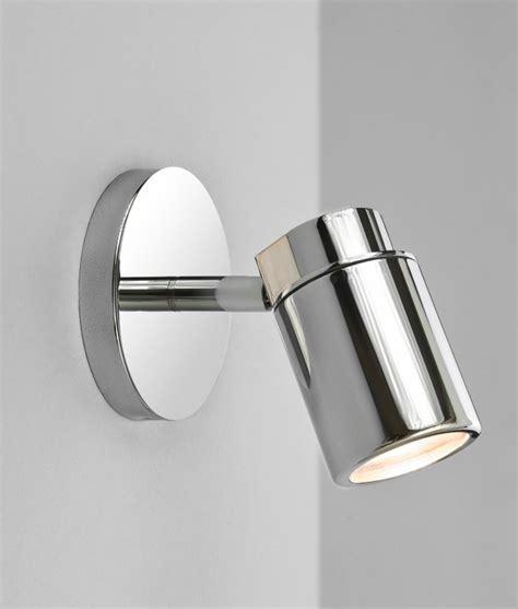 polished chrome single spot light ip44 suitable