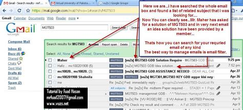 How To Search Emails How To Find An Email From Vuzs Mails