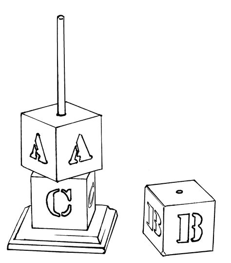 Free Letter Blocks Coloring Pages Block Coloring Pages