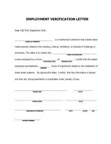 Loan Confirmation Letter Template Sle Letter Of Employment For Bank Loan Exle Of