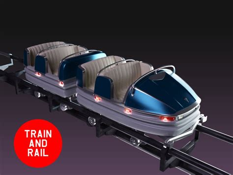 Roller Coaster Cars wagon roller coaster 3d max