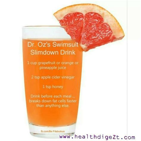 Detox Breaking Me Out by Dr Oz S Swimsuit Slimdown Drink Drinks