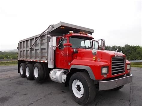 dump truck mack tri axle steel dump trucks for sale