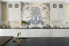 french blue and white ceramic tile backsplash french country kitchen decor ideas with blue and white tiles 543x423 french country kitchen