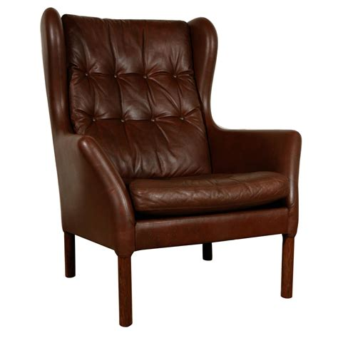 wingback bench vintage leather wingback chair at 1stdibs