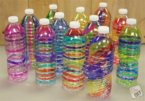 plastic water bottle crafts for family plastic bottle craft colorful tree spirals