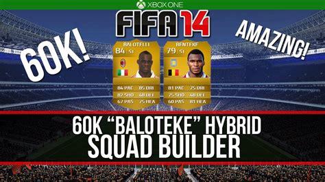 fifa 14 ultimate team hybrid squad builder 60k