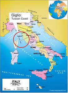 giglio island italy location map world map