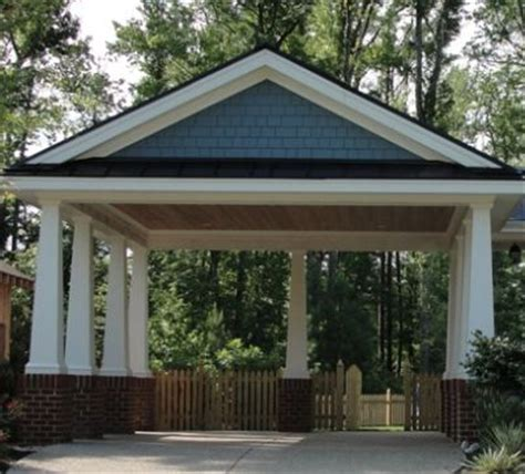 Carport Plans 1040 by 2 Car Carport Built On The High End Of The Details Can