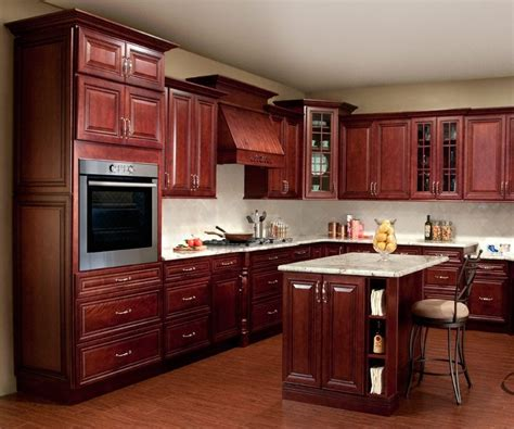 China New Design Cherry Kitchen Cabinet Home Furniture Yb1706178   China Kitchen Cabinet