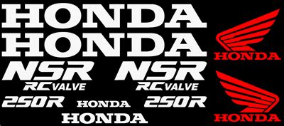 Honda Nsr Aufkleber by Graphics And Stickers Decals For Honda Nsr Series