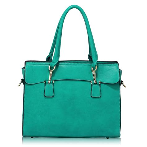 ag00342 teal grab tote bag