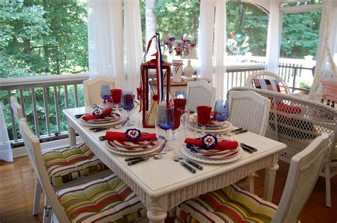 4th of july table 4th of july table setting
