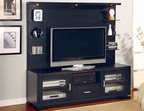 tv shelf design ultra modern black tv console with glass shelves design